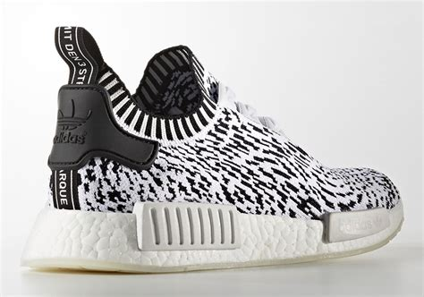 zebra pattern adidas official images of the adidas nmd r1 primeknit zebra white