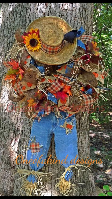 1000 ideas about scarecrow wreath on fall