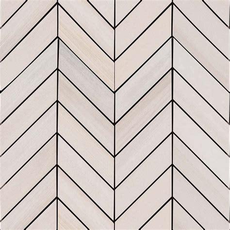 Best Material For Kitchen Backsplash Watercolor Bianco Chevron Mosaic 12x15 Msi Stone Tile