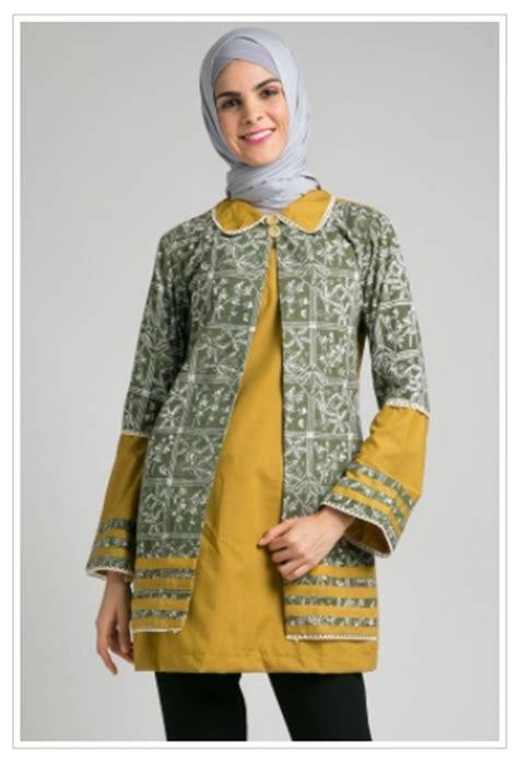 Batik Blouse Muslim Atasan Wanita Rinjani trend baju muslim atasan batik modis untuk remaja masa kini