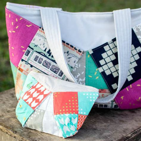 Three More Inspiring Patchwork Projects Sewcanshe Free - show saturday colorful patchwork bags sewcanshe