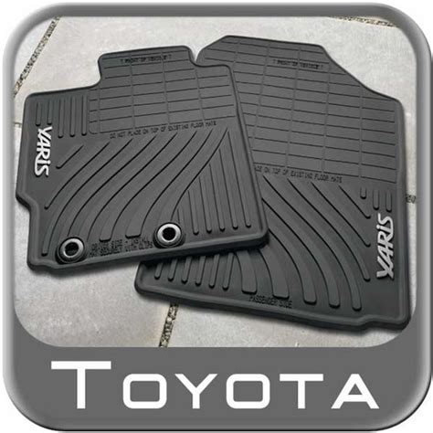 Toyota Yaris Car Mats 2013 by 2012 2014 Toyota Yaris Rubber Floor Mats All Weather Black