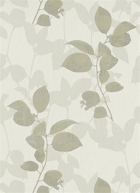 grey wallpaper with leaves ambiance soft chocolate grey leaves wallpaper by