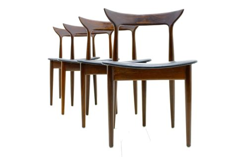 Four Dining Room Chairs Set Of Four Dining Room Chairs Rosewood Leather Ca 1960 S Inside Room