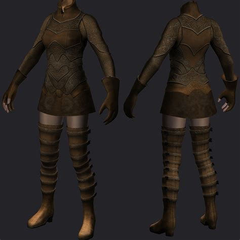 skyrim archer armor mod elven archer armor unp at skyrim nexus mods and community