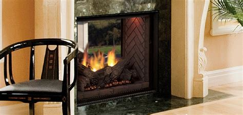 See Through Ventless Gas Fireplace by Marquis See Thru Directvent Gas Fireplaces Majestic Products