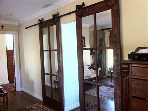 We Currently Have A Standard French Door Between The Inside Sliding Barn Door