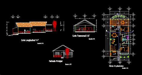 country cottage  architectural plants  dwg design
