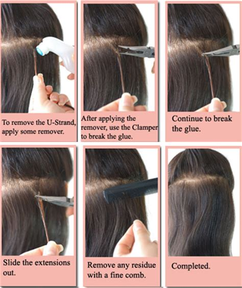 hair treatments after weave removal how to apply and remove u strand i strand hair extensions