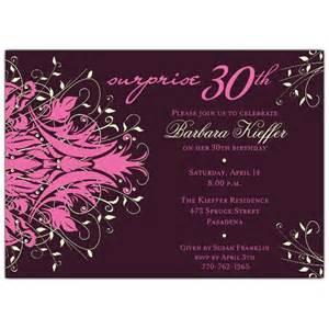 andromeda green surprise 30th birthday invitations