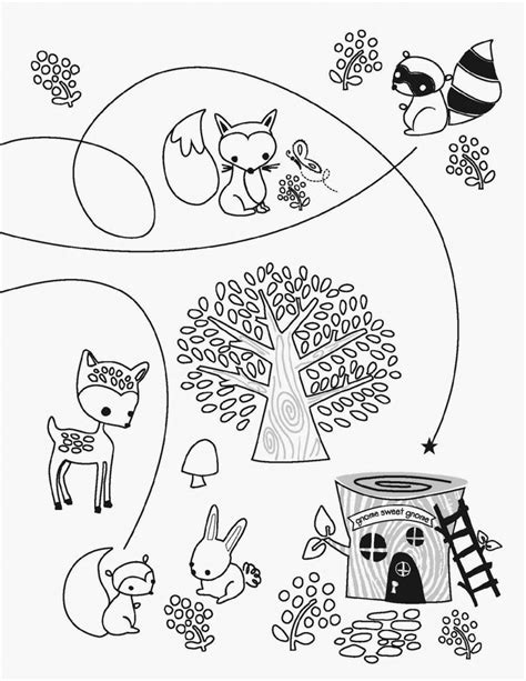 free coloring pages woodland animals free woodland creature coloring pages az coloring pages