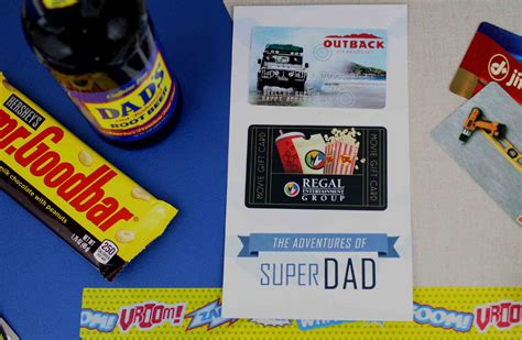 Dinner And A Movie Gift Card - free printable father s day gift card for super dad gcg