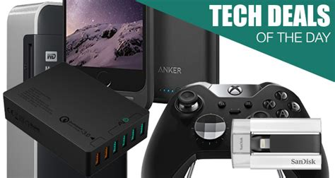 tech deals 2tb wireless drive iphone 6s battery xbox one elite controller more