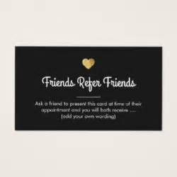 referral card template free referral business cards templates zazzle