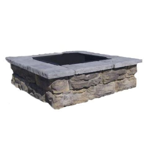 pit stones home depot fossill limestone square pit flssfp the home