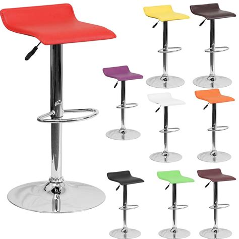 colorful bar stool modern adjustable height bar stool chrome backless swivel
