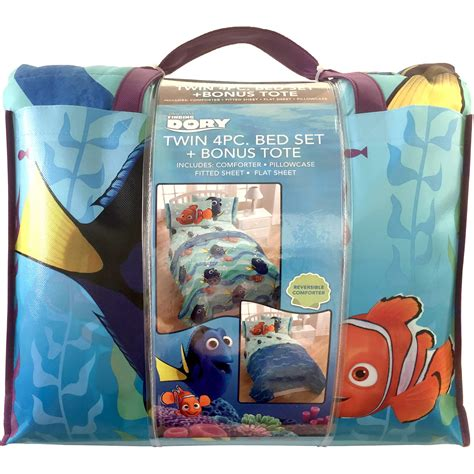 Bed Cover 120 Nemo disney finding dory nemo pin baby bed in a bag 5 bedding sheet set ebay