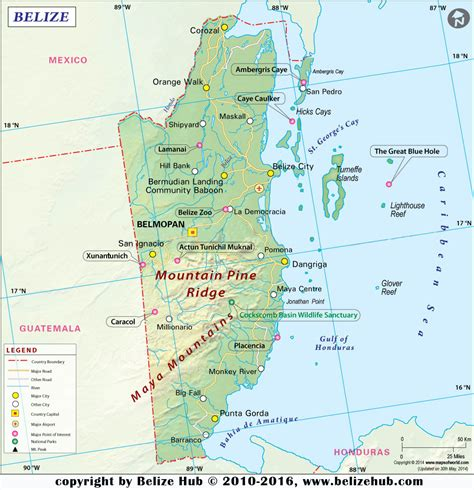 map of mexico and belize belize map map of belize maps of belize