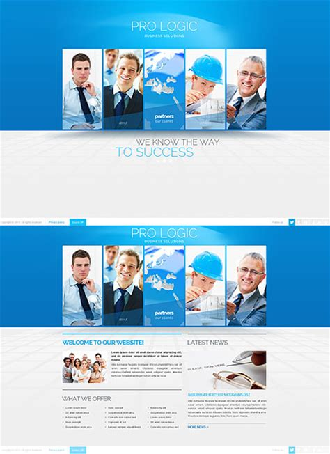 templates business html5 blue business html5 template id 300111643