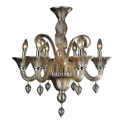 Venetian Style Chandelier Worldwide Lighting Murano 6 Light Blown Glass Venetian Style Chandelier W83175c23 Am The