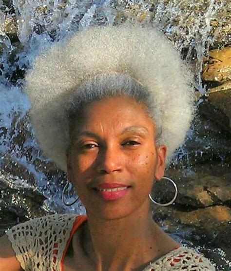 gray afro hairstyle gray hair embrace gray gracefully pinterest