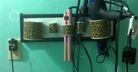 Pvc Pipe Diy Hair Dryer Holder diy hair styling tool holder made of pvc pipes block