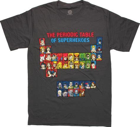 periodic table shirt dc comics periodic table t shirt