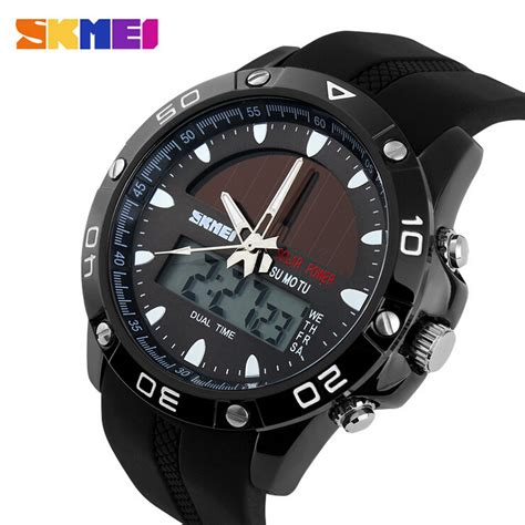 Skmei Sport Pedometer Rate Tracking Wr 30m Dg11 T0210 1 ୧ʕ ʔ୨50m waterproof solar watches っ outdoor outdoor casual watchmen sports இ