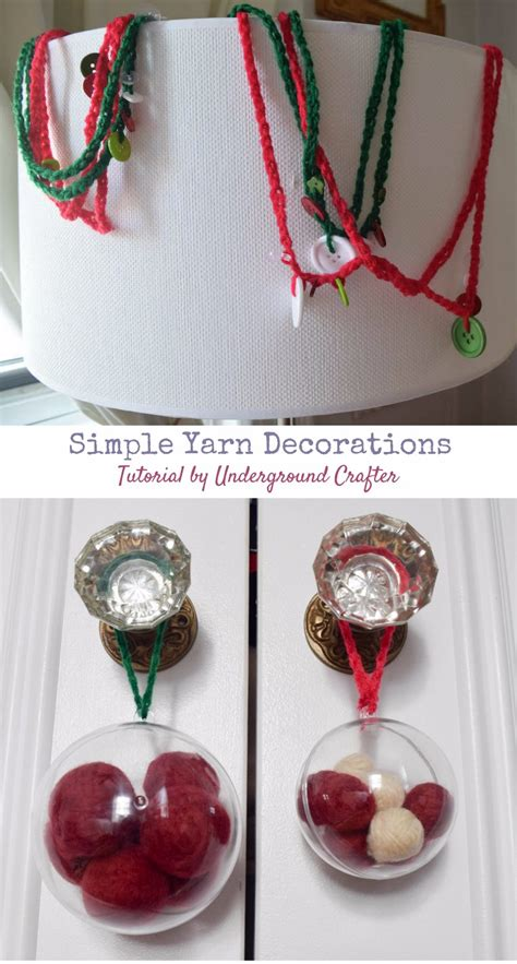 Simple Handmade Decorations - simple yarn decorations underground crafter