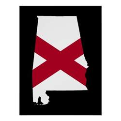 alabama colors alabama flag colors poster zazzle