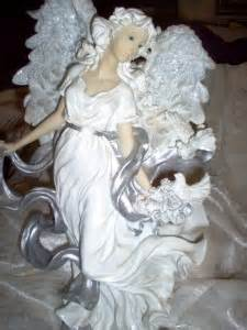 Home Interior Angel Figurines by Home Interior Silver Glory Angel Figurine See Pictures Ebay