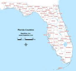 florida map showing cities and towns florida county map