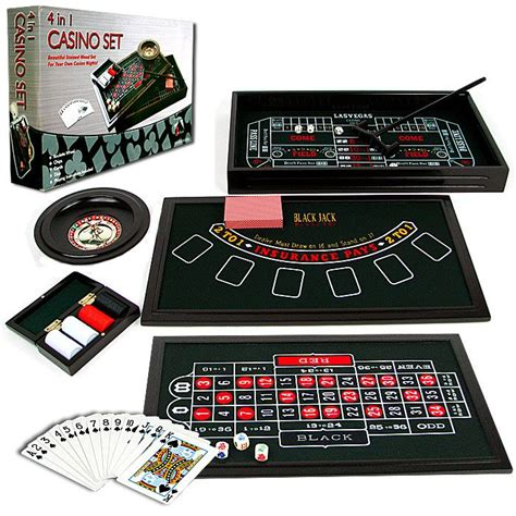 Set 4 In 1 4 in 1 casino table craps blackjack
