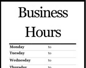 business hours template related keywords suggestions for hours sign