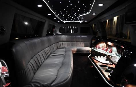 Limousine Interior by White Stretch Limo Allied Limos Service