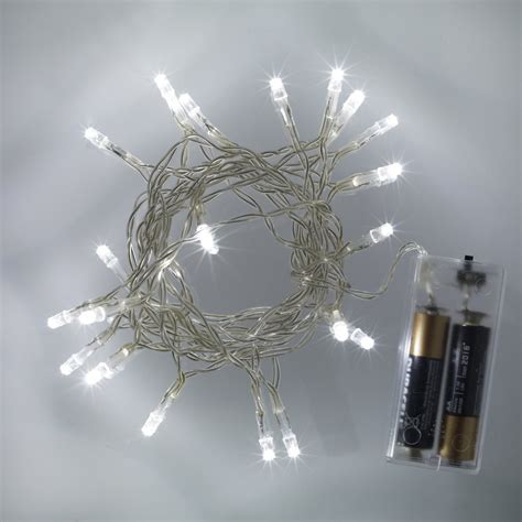 20 Cool White Led Battery Operated Fairy Lights 163 1 59 Battery Operated Led Lights
