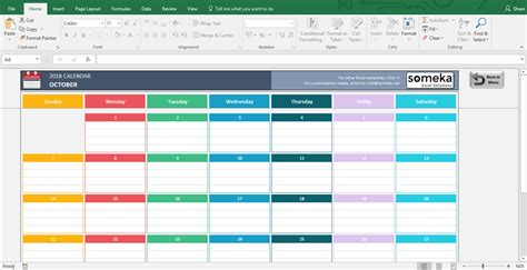 Content Calendar Template 2018 Excel Calendar Templates Download Free Printable Excel Template