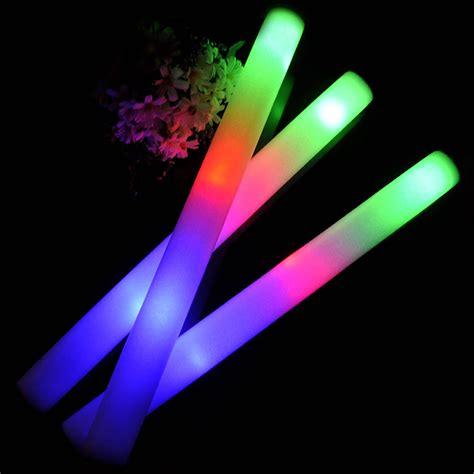 light up foam wands 1 5 10 x light up foam sticks led wands rally batons