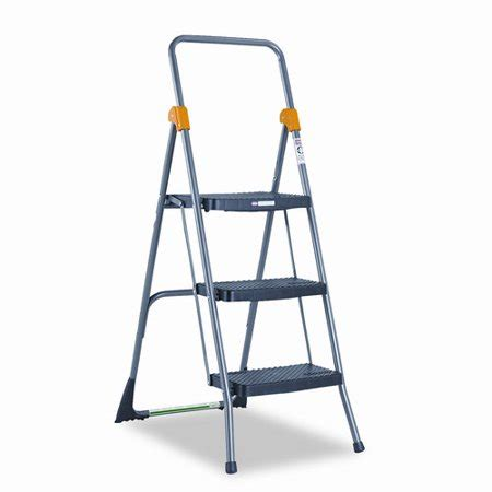 Cosco 3 Step Folding Stool by Cosco 3 Step Steel Commercial Folding Step Stool With 300