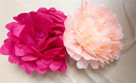 fiori di carta crespa per bambini come fare lavoretti di primavera con carta crespa mamme