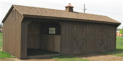 Sheds And Shelters by Barns 12x28 Shed Row Barn With Stall Run In