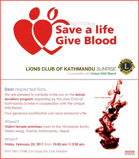 Blood Donation Letter Invitation 301 Moved Permanently