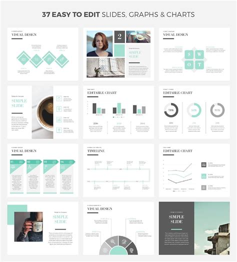 Simple Cool Powerpoint Template Presentation Templates Template And Infographic Cool Infographic Templates