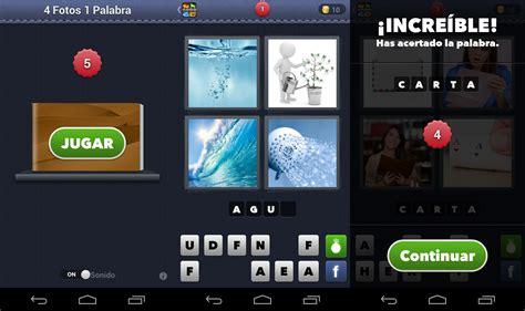 4 imagenes y una palabras los mejores juegos de palabras en android