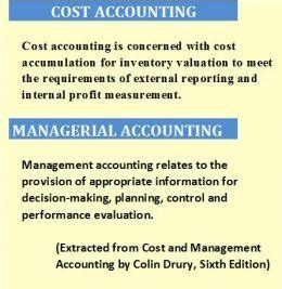 Cost And Management Accounting Project For Mba by What Is The Difference Between Cost Vs Managerial