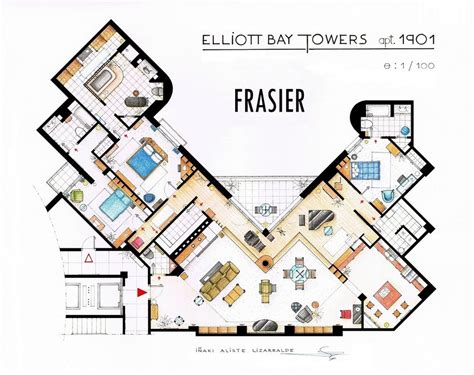 famous floor plans floor plans of homes from famous tv shows