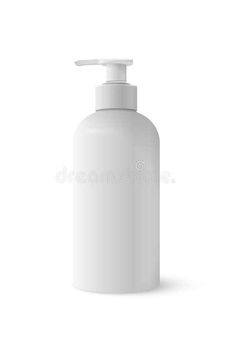 Plastic Bottle For Liquid Soap. Stock Vector