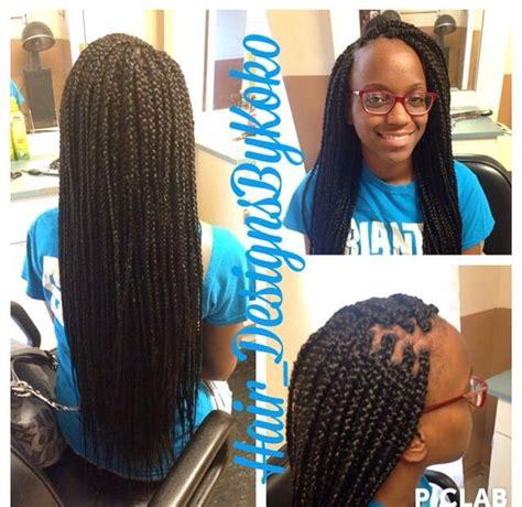 Box Braids Lengths | waist length box braids done by me box braids
