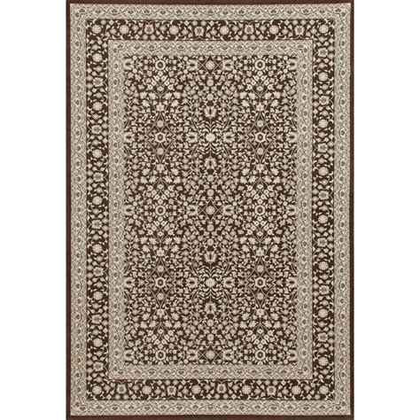 10 X 15 Area Rug Carpet Kensington Microfloral Brown 10 Ft 11 In X 15 Ft Area Rug 841864106992 The Home