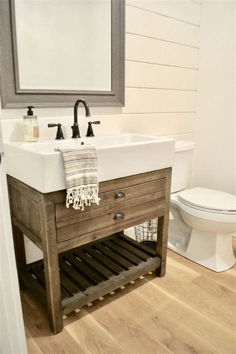 farmhouse bathroom sinks best 25 rustic bathroom vanities ideas on pinterest